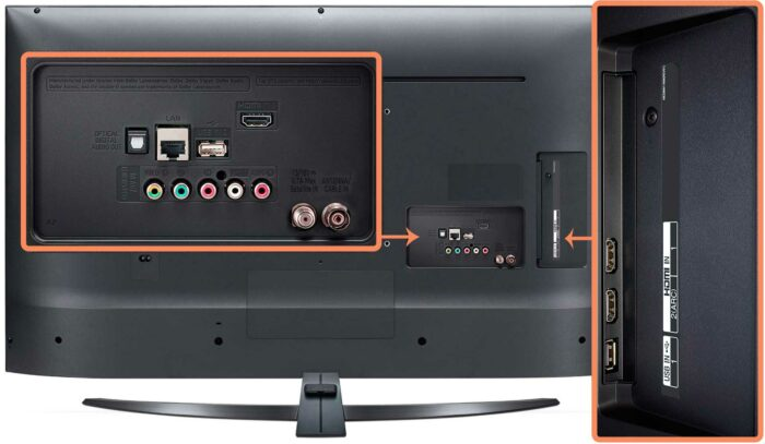 LG 55UM7400 интерфейсы