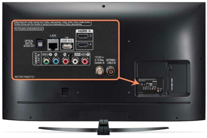 LG 55UM7660 интерфейсы