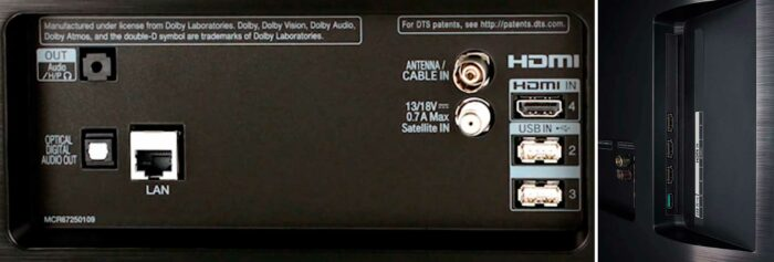 LG OLED55B9P интерфейсы