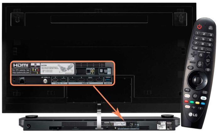 LG OLED65W9P коммутация