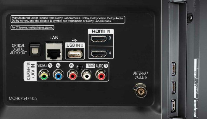 LG 43UM7500 интерфейсы
