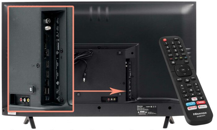 Hisense H43B7100 интерфейсы