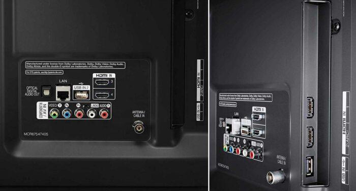 LG 55UM7510 интерфейсы