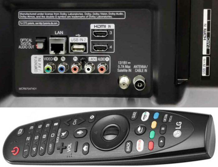 LG 55UM7610 интерфейсы