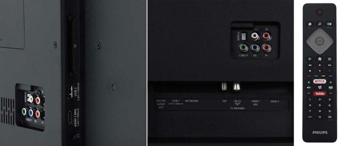 Philips 50PUS6504 интерфейсы