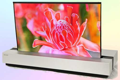 Рулонный 4K OLED телевизор Sharp 30 дюймов