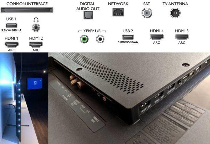 Philips 50PUS8804 интерфейсы