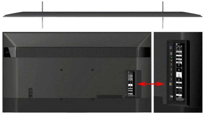 Sony 49XH9505 интерфейсы