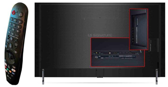 LG OLED77ZX интерфейсы