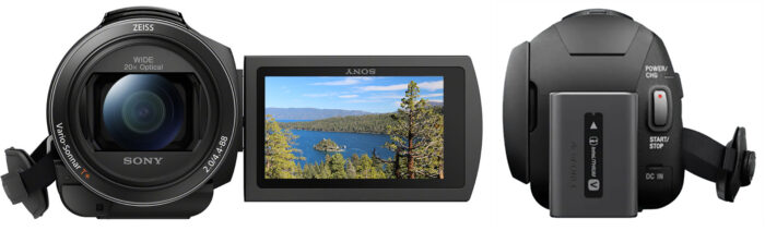 Sony AX43 - дизайн
