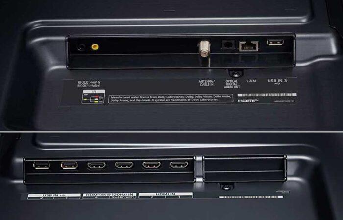 LG 65NANO916 NanoCell интерфейсы