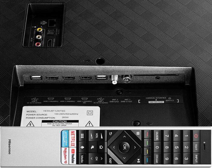 Hisense 55U8QF интерфейсы
