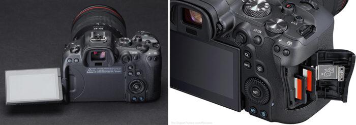 Canon EOS R6 - дисплей