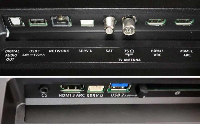 Philips 65PUS7855 интерфейсы