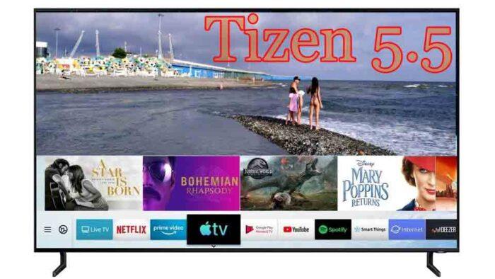 Samsung Tizen 5.5 меню