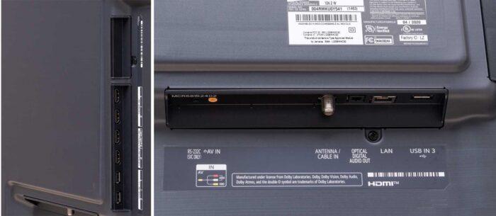 LG 75NANO996NA интерфейсы