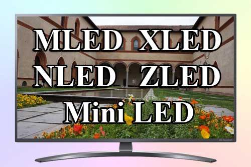 MLED, XLED, NLED, ZLED - Mini LED от LG 2021 года