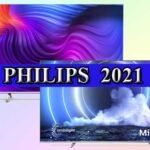 Модельный ряд телевизоров Philips 2021 года