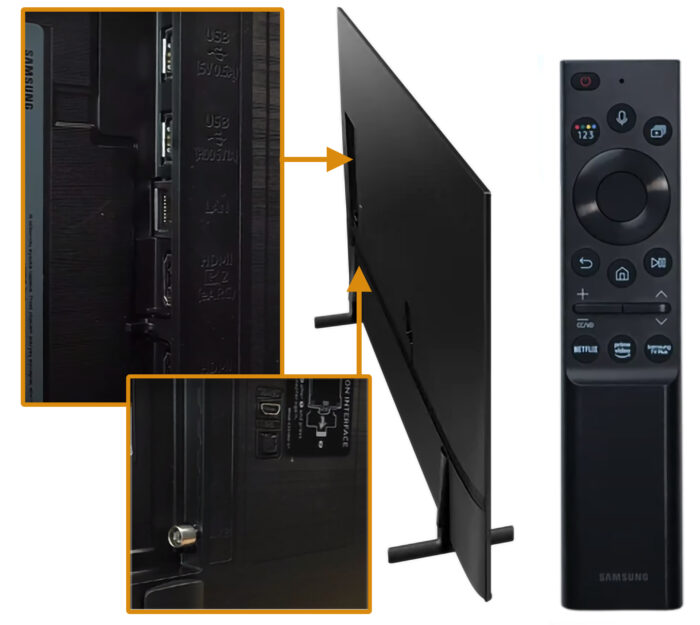 Samsung AU8000 - коммутация