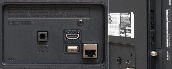 LG 55UP8100 интерфейсы
