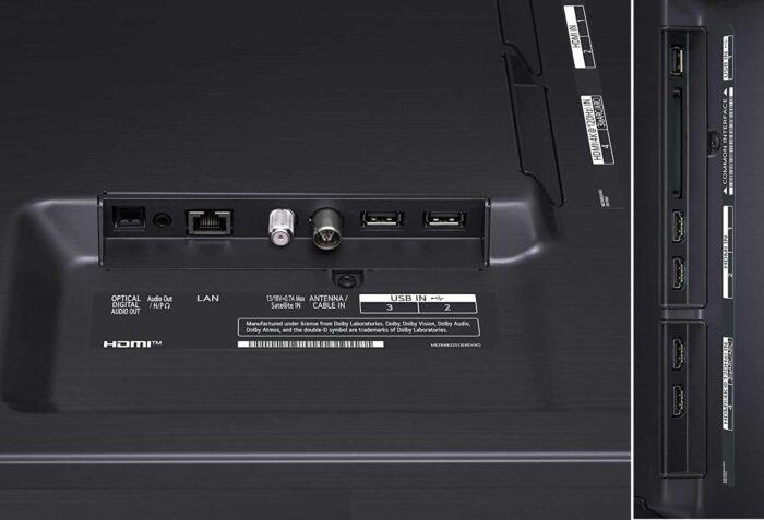 LG 65NANO866PA интерфейсы