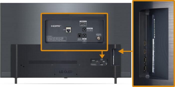 LG OLED A1 - коммутация