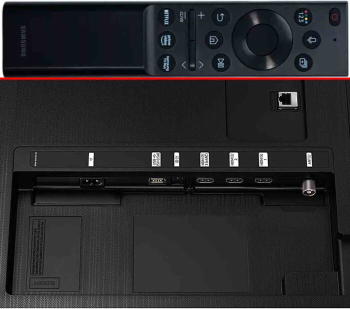 Samsung UE55AU7140 коммутация