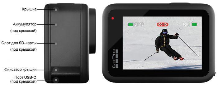 GoPro Hero 10 Black - коммутация
