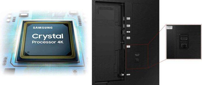 Samsung UE55AU8040 интерфейсы